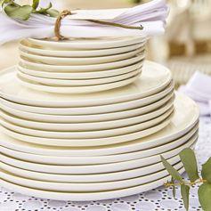Assiettes plates - assiettes à pain - assiettes à desserts - dorées -décoration de table -vaisselle