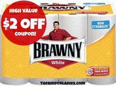 Brawny: High Value $2 off Paper Towel 12 Big Rolls Coupon!
