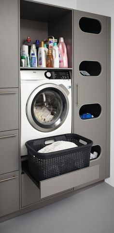 Schuller washing machine unit with put-out support.