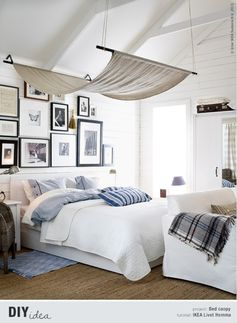 Bedroom Decorating Ideas. LOVE THE HAMMOCK!!! Re pin if you wish YOUR sleep-place had a high hangout!
