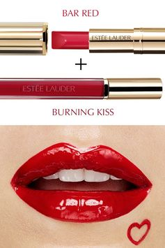 Mix & Remix your lip look with Pure Color Love in Bar Red and Burning Kiss.