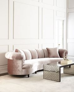 Audrey Channel-Tufted Sofa by Haute House at Neiman Marcus.