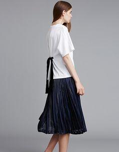 LE CIEL BLEU バックリボントップス/プリーツスカート