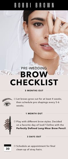 Check off perfect brows from your bridal to-do list.