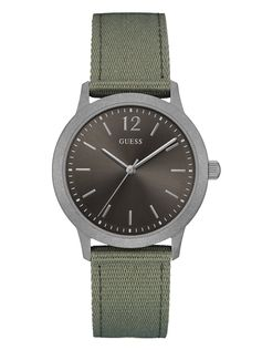 Green and Silver-Tone Analog Watch