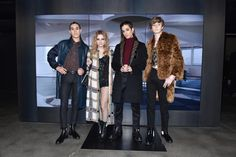 Ethan Torchio, Victoria de Angelis, David Damiano and Thomas Raggi at the Fendi Men's Fall/Winter 2018-19 Fashion Show