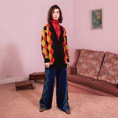 Pump energy into new season knitwear with diamond cut argyle in clashing hues.