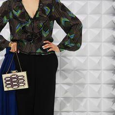 Clutch bag: Lolita Lorenzo Tops:70s Jeff Banks Bottom:Hermes by Martin Margiela Stole:GENRECODES