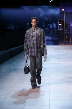 A look from the Louis Vuitton Men's Fall-Winter 2019 Fashion Show by Virgil Abloh, presented in Paris, France.