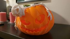 Flexi Skeleton and pumpkin printed by Rado #prusai3 #toysandgames