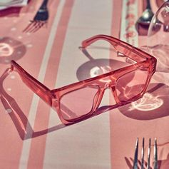 Rose-tinted sunnies… The new #StellaIcyIce sunglasses come in five Icy hues this summer for women, men and kids; crystal, sky, amber, lemon or blush.