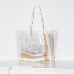 Our clear monogram is this season's must-have, giving shoes and accessories youthful energy. Discover these and more at StellaMcCartney.com . #StellaMcCartney #StellasWorld