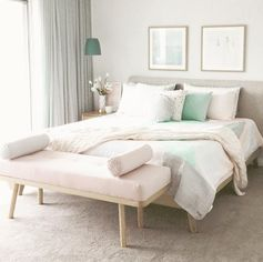 Pink Pastel Scandinavian bedroom
