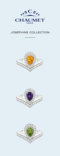 The new Joséphine Aigrette collectable rings, latest additions to the Chaumet Joséphine collection.