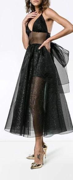 Rosie Assoulin Silk Tulle Dress