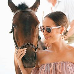Beautiful Louise Roe wearing Folli Follie sunglasses & jewellery (July 2016).