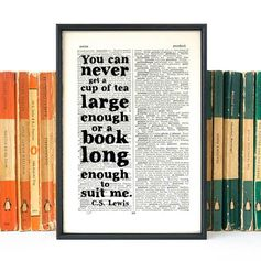 Discover this great literary gift. CS Lewis quote,