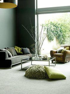wandfarbe grün wandfarbe ideen wandgestaltung wohnzimmer