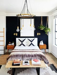 Bedroom Bohemian black vintage