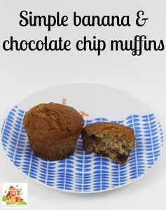 simple banana and choc chip muffins perfect for cooking with kids