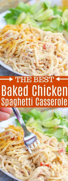 Chicken Spaghetti Casserole • The Diary of a Real Housewife