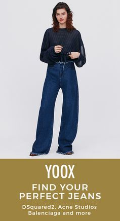 Find your perfect pair of jeans on @YOOX in just four easy steps. Shop your favorite brands and designers, like Acne Studios, Moschino, Versace and more.