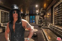 Slash is selling his very Slash-like house in Mulholland Estates.