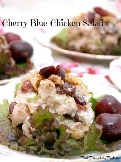 Pink Piccadilly Pastries: Tea Room Cherry Blue Chicken Salad