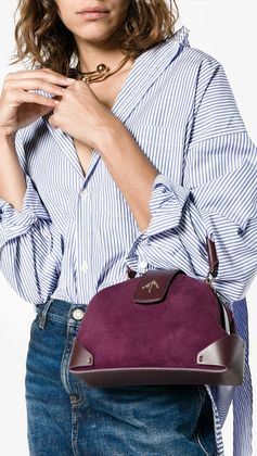 MANU ATELIER purple Demi cross-body bag, explore new season bags on Farfetch now.