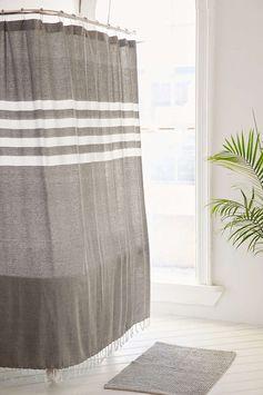 Rideau de douche à fils teints Miyo 4040 Locust