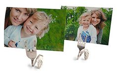 These fork photo holders look nice displayed as a group or at each place setting for a Mother's Day brunch. You can easily print your photos using the My Kodak Moments app.