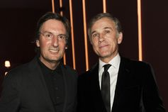 Pietro Beccari and Christophe Waltz @ Fendi Studios