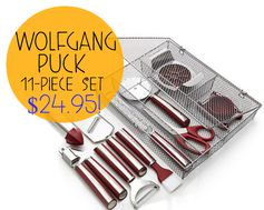 HSN:  Wolfgang Puck 11-Piece Kitchen Tool Set = $24.95 + FREE Shipping! Regularly $94.40!