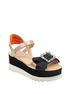 Letitia Embellished Platform Sandals | GUESS.com