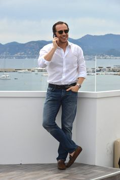 Stylish Stefano Accorsi wearing his Tod's Gommino at Cannes for the 70th #CannesFilmFestival #TodsGommino #Cannes2017