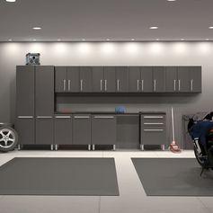 7' H x 33' W x 2' D 12-Piece Garage Storage Cabinet Set