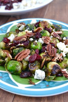 Cranberry Pecan Brussels Sprouts - Jazz up roasted Brussels Sprouts with this recipe!