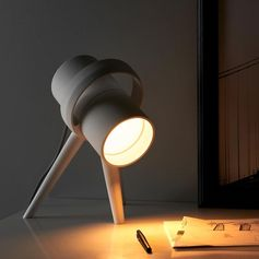 A small table lamp.