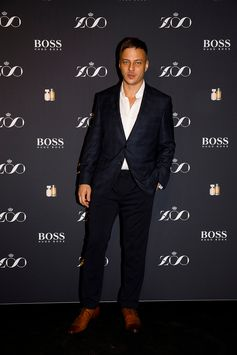 Tom Wlaschiha, wearing BOSS to attend the ZOO Magazine x BOSS Dinner Party in Berlin #SuitedByBOSS