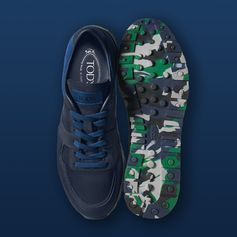 A camouflage sole for a surprising effect: discover the world of Tod's Sneakers at tods.com. #SS17 #TodsSneakers #Tods #camouflage