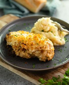 This Copycat Longhorn Parmsan Crusted Chicken recipe has an easy marinade and a delicious Parmesan Crust that's baked on top. It tastes JUST like the restaurant version! #Longhorn #ParmesanCrustedChicken #Chicken #Copycat #Dinner