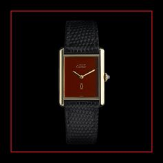 Launched in 1977, Must de Cartier collection followed the shape of Tank L.C. while introducing colored dials.