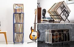 Vinyl record storage ideas - tall towers, to crates, and table top solutions.