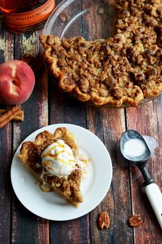 Maple Bourbon Brown Butter Peach Pie - Host The Toast
