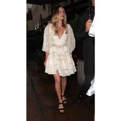 Dreamy summer style for beautiful Margot Robbie in her Tods sandals, styled by Kate Young. #summer #MargotRobbie