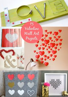 Valentine Decor: 15 Lovely Canvas Art Projects - diycandy.com
