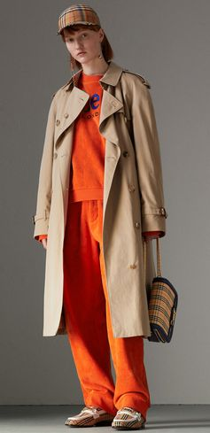 Our relaxed-fit trench coat revised with a Rainbow Vintage check lining and undercollar #Burberry