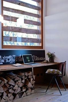 Un bureau en bois esprit récup'