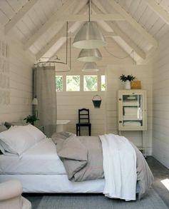 chambre à coucher blanc lit