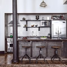 Une cuisine industrielle - 10 cuisines à l'esprit industriel